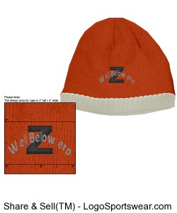 Z orange beanie Design Zoom